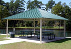 Square Steel Shade Shelter