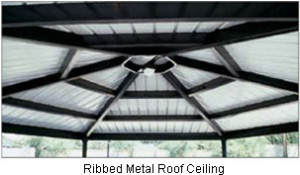 Ribbed Metal Roof Interior Ceiling