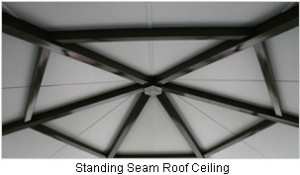 Standing Seam Roof Interior Ceiling