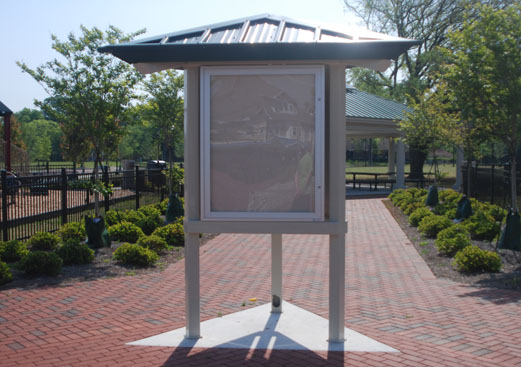 Three Sided Metal Display Shelter Kiosk Information Center