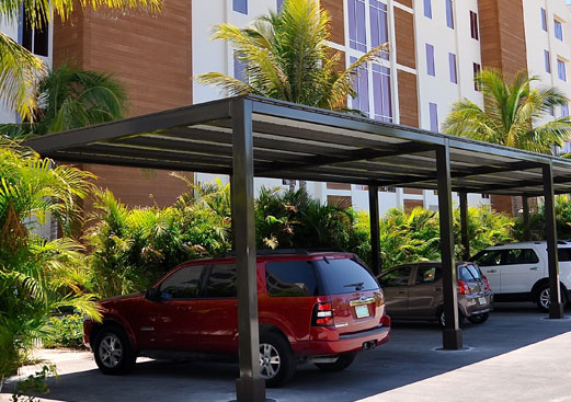 Steel Shelter - Covered Parking - Monoslope & Limited Monoslope - Poligon
