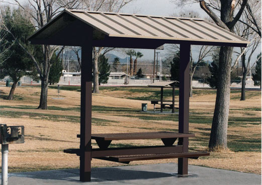 Small Picnic Shelters : Gable roof metal picnic shelter small sunshelter