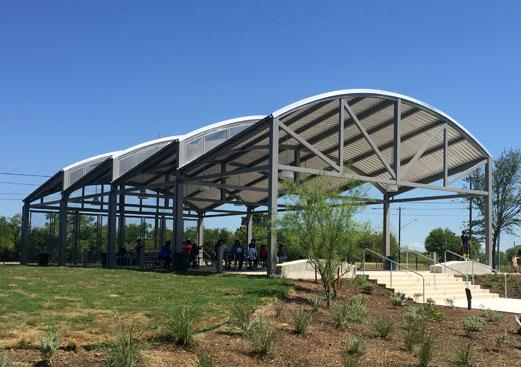 Custom Arch Park Shelter