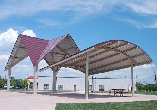 Custom Crossing & Arch Shelter