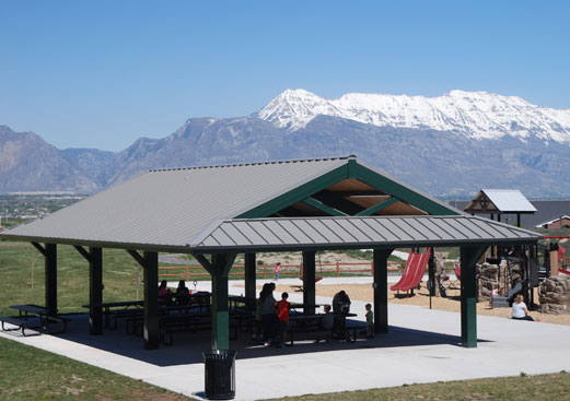 Custom Rectangle Park Shade Shelter