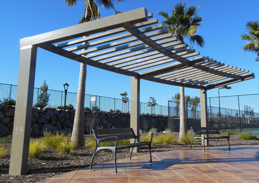 Millennium Trellis - Curved Cantilevered Shelter