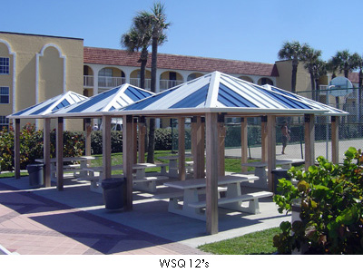 Square Steel Shade Structures