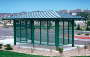 Perforated Aluminum Windscreens
