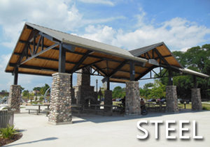 Steel Shade Structures Poligon Open Air Shade Shelters