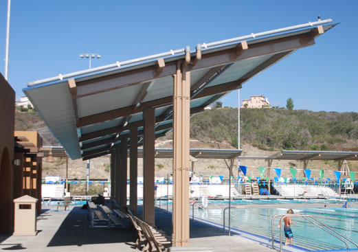 Monoslope - Steel Shade Structure